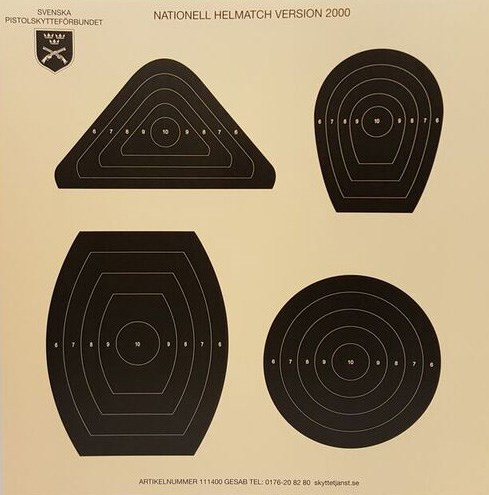 Nationell helmatch 25 m 4 figurer