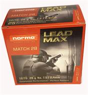 Norma Leadmax Match 28 gr 12/70