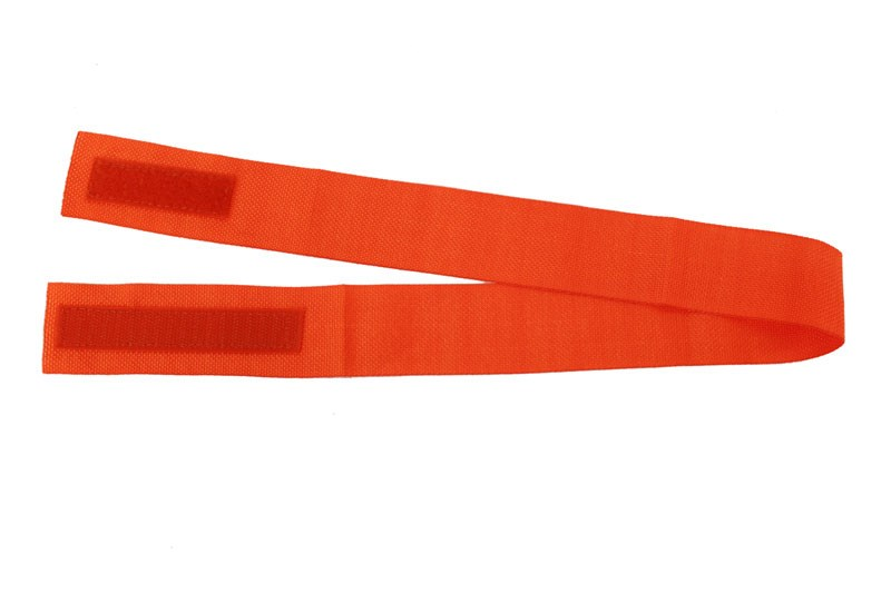Hattband 40mm, orange med kardborre